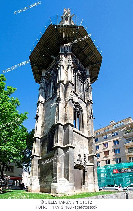 France, Rouen, Rue aux Ours, Tour Saint-André, vestige of a former Parish Church, Photo Gilles Targat