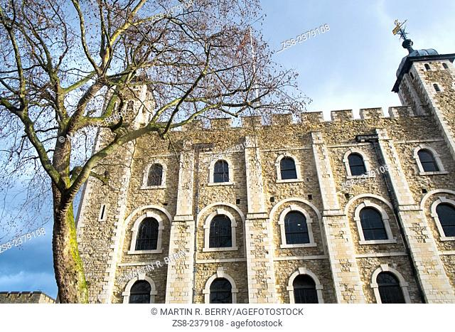White Tower at the Tower of London in England