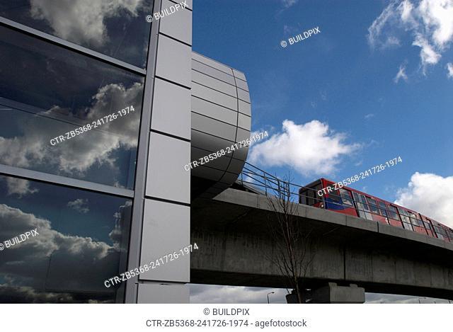 West Silvertown DLR station, East London, UK