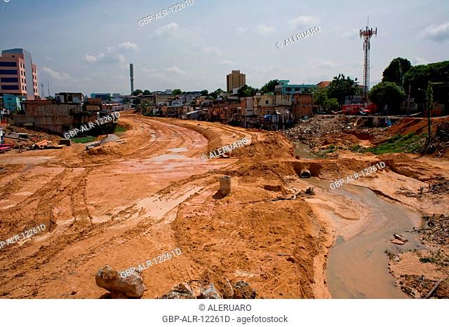 Works, Prosamim Project, 7 de Setembro Avenue, Amazônia, Manaus, Amazonas, Brazil