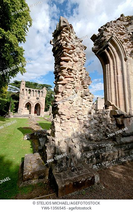 The ruins of Dryburgh Abbey in Scotland