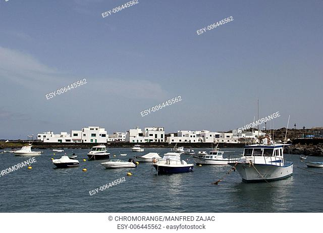 Port in Orzola, Lanzarote, Spain