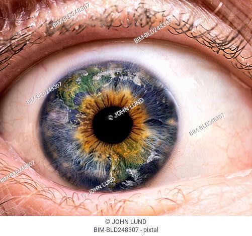 Close up of global eyeball
