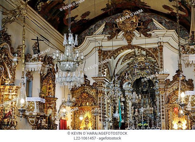 Church of Our Lady of the Rosary built by slaves in the 18th century, São João del Rei, Minas Gerais, Brazil