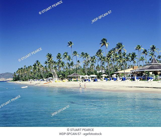 Pinney's beach, Nevis, Caribbean