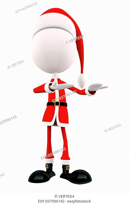 3d Santa with presentation pose