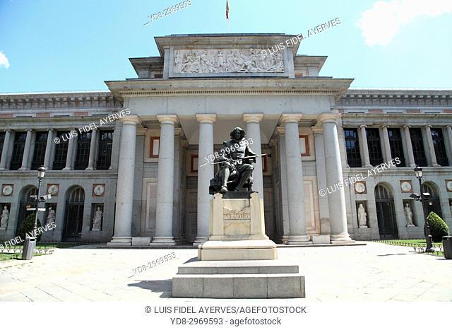 Partial view of the Prado Museum in Madrid, Spain