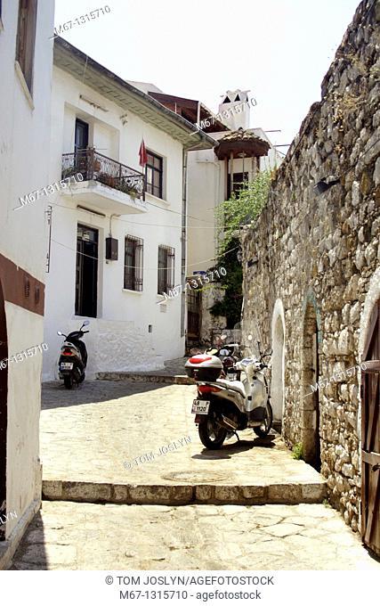 Side Street, Marmaris, Anatolia, Turkey, Asia Minor, Eurasia