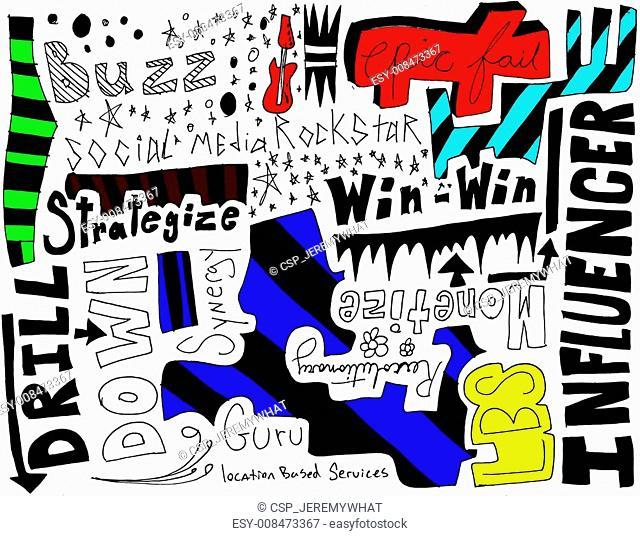 Socail media doodles