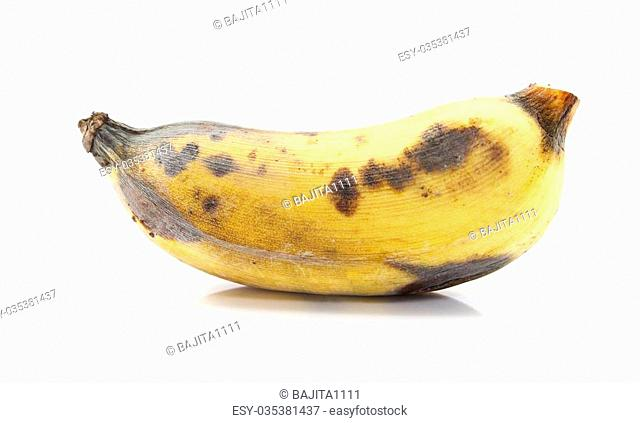 Bunch Of Ripe Banana On White background