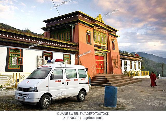 India, Sikkim, Gangtok, Rumtek Gompa Complex, Entrance to main monastery building