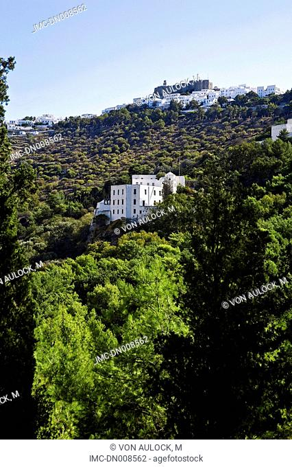 Greece, Dodecanese, Patmos, monastery of St John the theologian