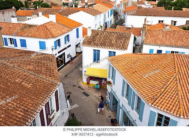 France, Vendée, Yeu island, Port-Joinville