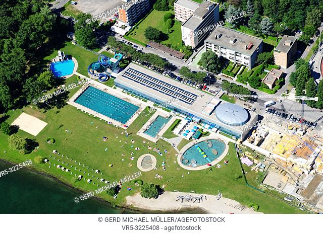 South Switzerland: Airshot from the Lido in Locarno