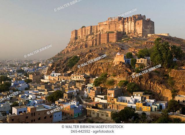 Meherangarh Fort & Town. Morning. Jodhpur. Rajasthan. India