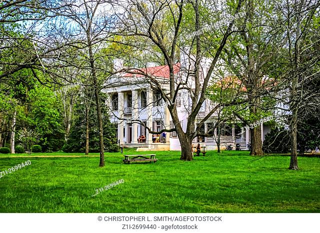 The Belle Meade Plantation on the outskirts of Nashville in Tennessee