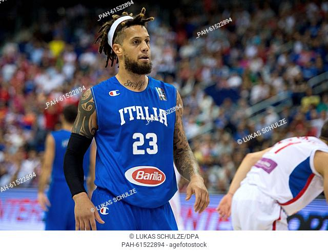 Italy's Daniel Hackett reacts during the FIBA EuroBasket 2015 Group B Italy vs Serbia in Berlin, Germany, 10 September 2015