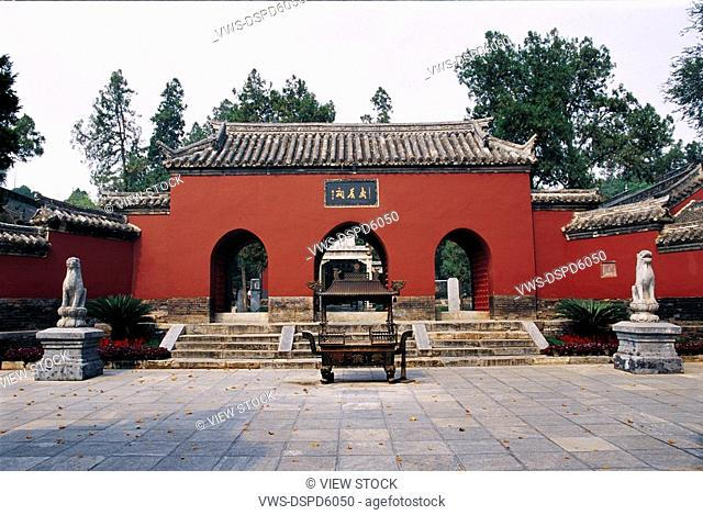 Gate Of Temple In Nanyang,Henan,China