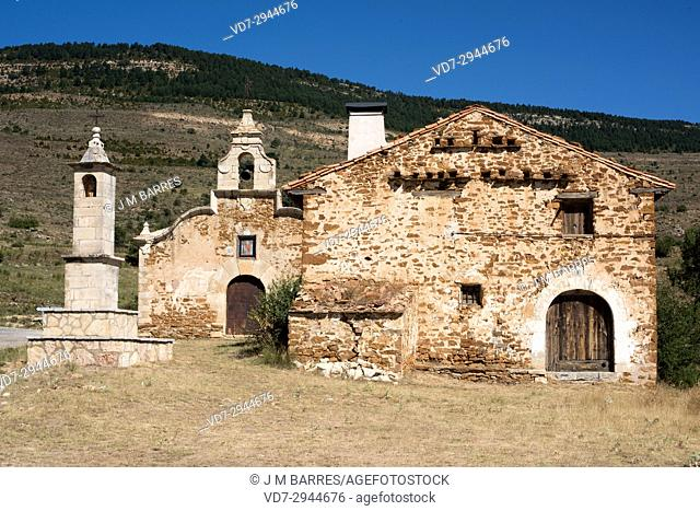 San Cristobal hermitage near Cantavieja. Alto Maestrazgo, Teruel province, Aragon, Spain