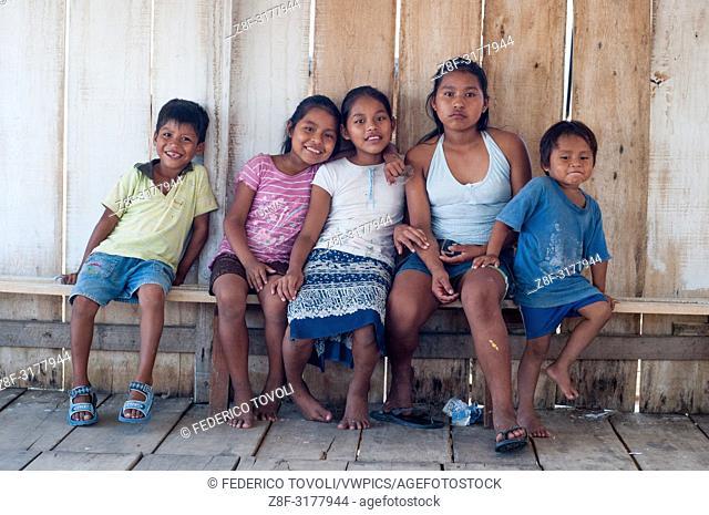 Children from Belen. Peru