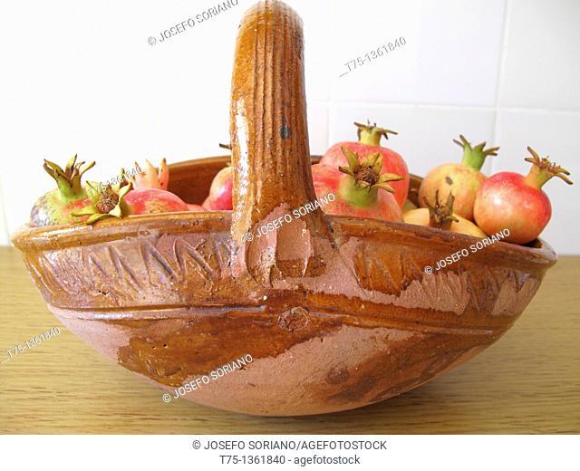 Pomegranates basket