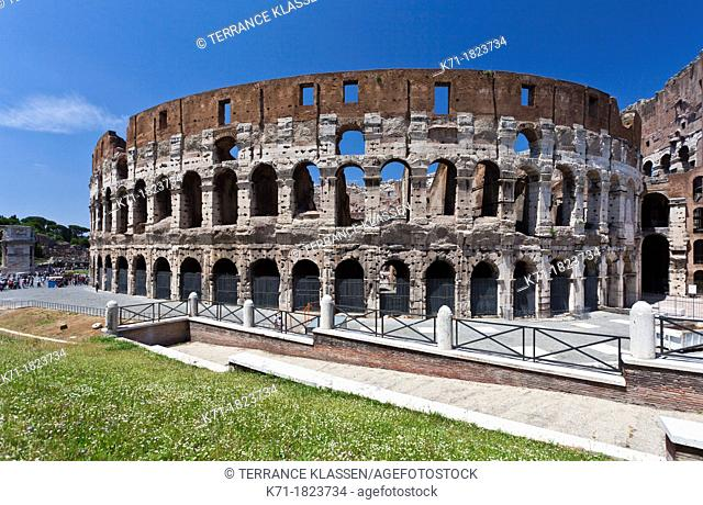 The Roman Coliseum in Rome, Italy