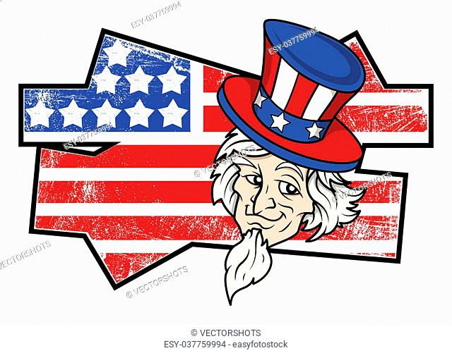 Uncle Sam grunge - USA Independence Day Vector theme Design