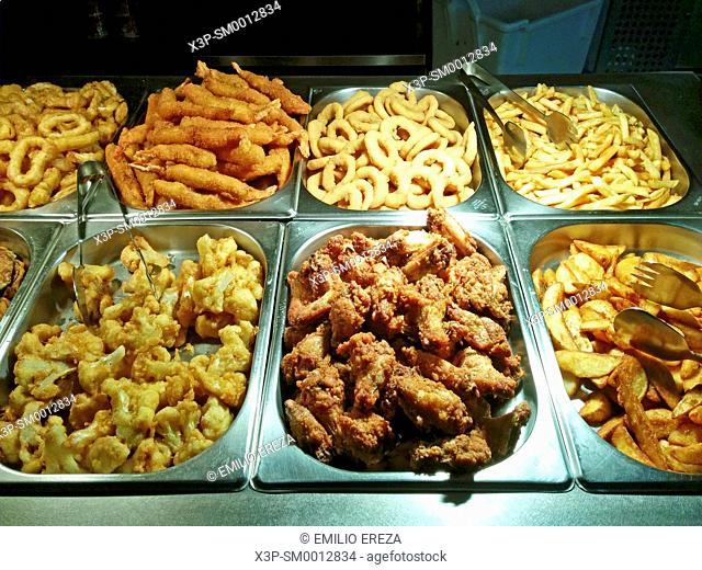 Fried food at Chinese retaurant
