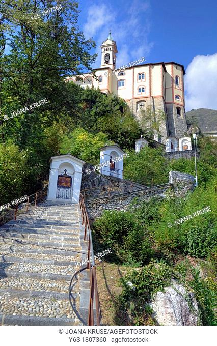 Stations of the Cross of the Sanctuary of the Madonna del Sasso in Locarno, Ticino, Switzerland