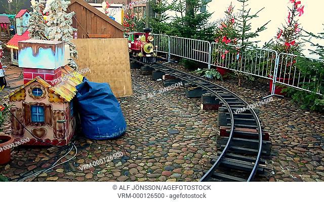 Railroad for children in christmas market in Lüneburg