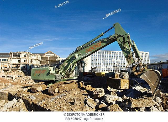 Demolishing operations AGFA area, development AGFA-Park, Munich, Upper Bavaria, Bavaria, Germany