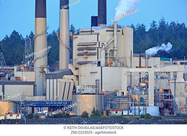 Harmac Pulp Mill, Nanaimo, Vancouver Island, British Columbia
