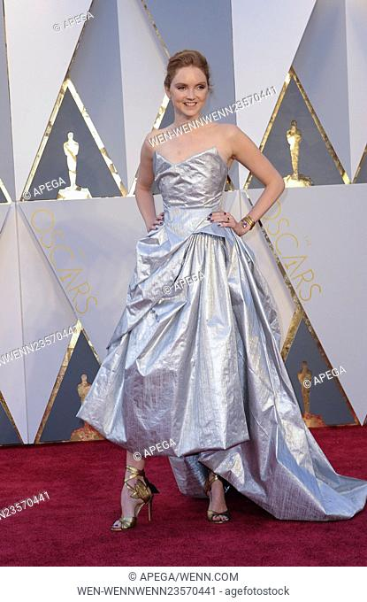 The 88th Annual Academy Awards Arrivals Featuring: Lily Cole Where: Los Angeles, California, United States When: 29 Feb 2016 Credit: Apega/WENN.com