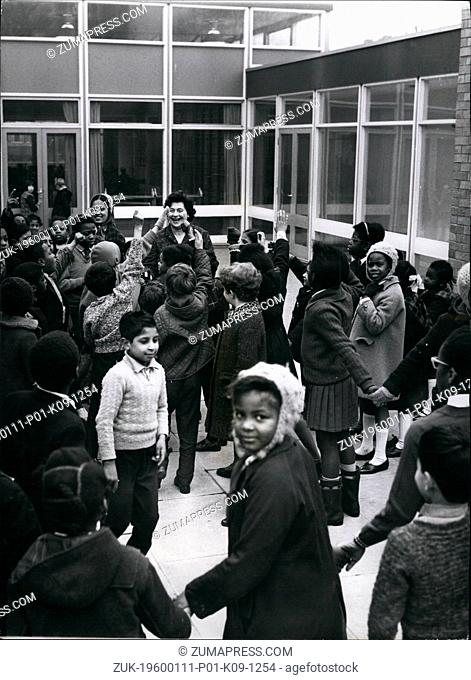 1964 - Wolverhampton, England - School Integration in UK: If colored and white children are brought up together, as at the West Park School in Wolverhampton -...