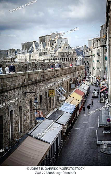 The Intramuros - Internal City of Saint Malo. Brittany, France