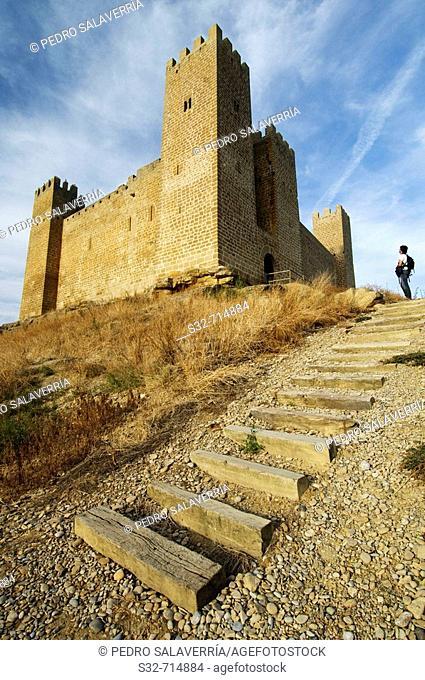 Castle (13th century), Sadaba. Zaragoza province, Aragon, Spain