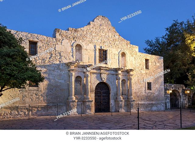 The Alamo - site of a major battle for Texas' independance from Mexico in 1835, San Antonio, Texas, USA