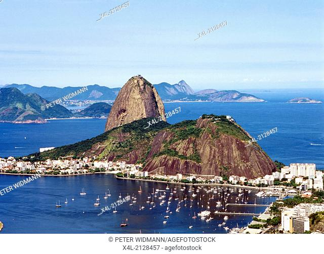 Brazil, overlooking Rio de Janeiro and Sugar Loaf
