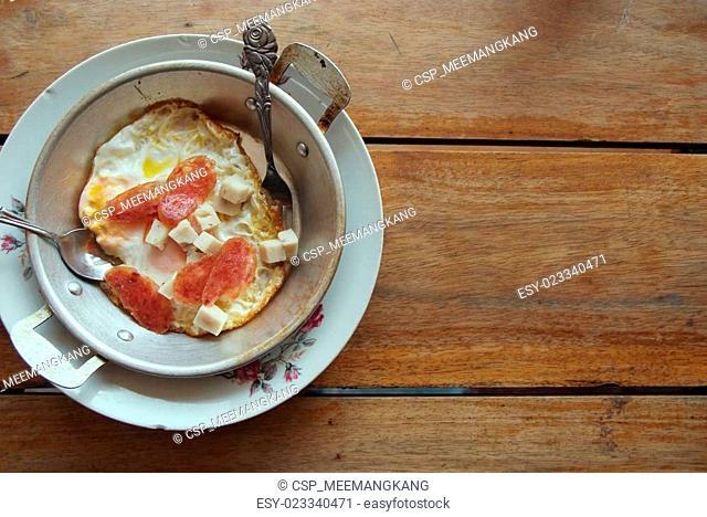 Eggs in a pan 1