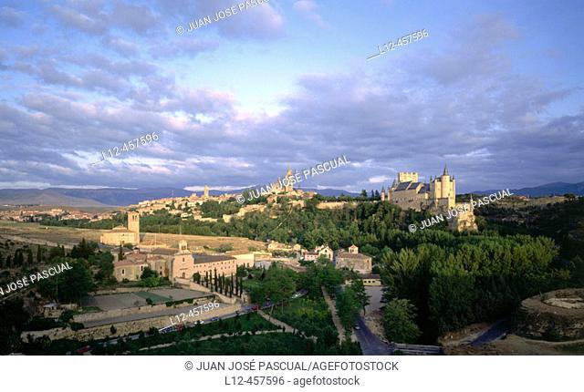 Segovia skyline. Castilla-León, Spain