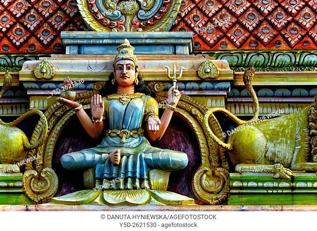 Detail of Hindu Temple near Terre Rouge, Pamplemousses district, Mauritius, Africa
