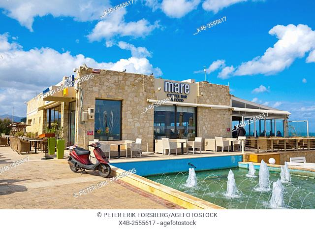 Seaside restaurant, Heraklion, Crete island, Greece