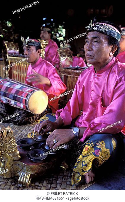 Indonesia, Bali, Gamelan musicians