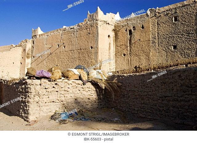 Houses in the historic center of Ghadames, Ghadamis, Libya, Unesco World Heritage Site