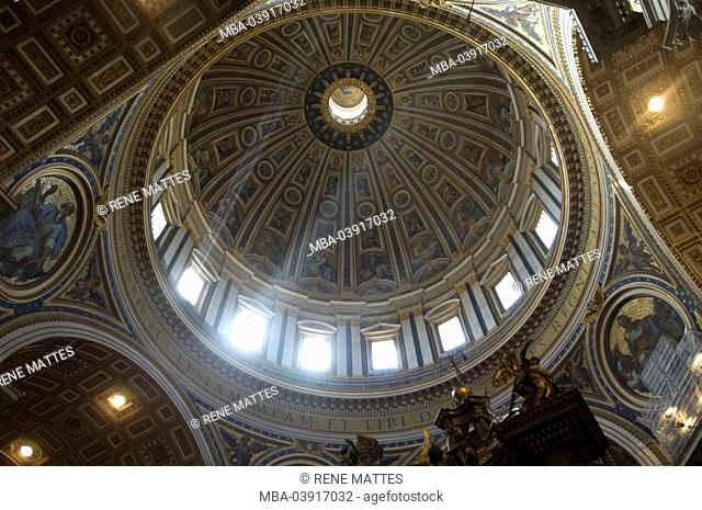 Italy, Rome, St. Peter's Basilica, indoors, dome