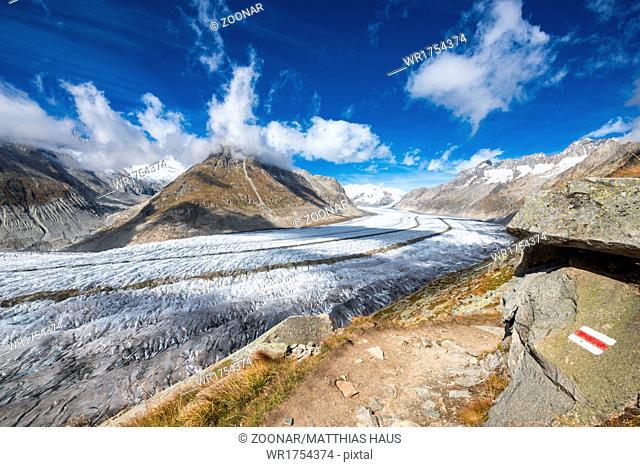 Aletsch Glacier Swiss Alps Switzerland