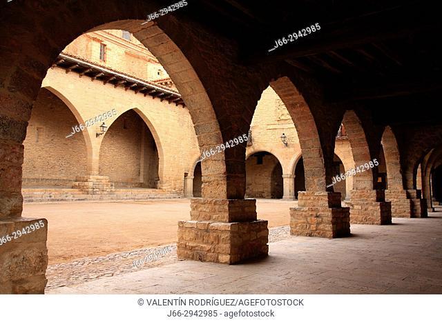 Portico square in Cantavieja. Teruel