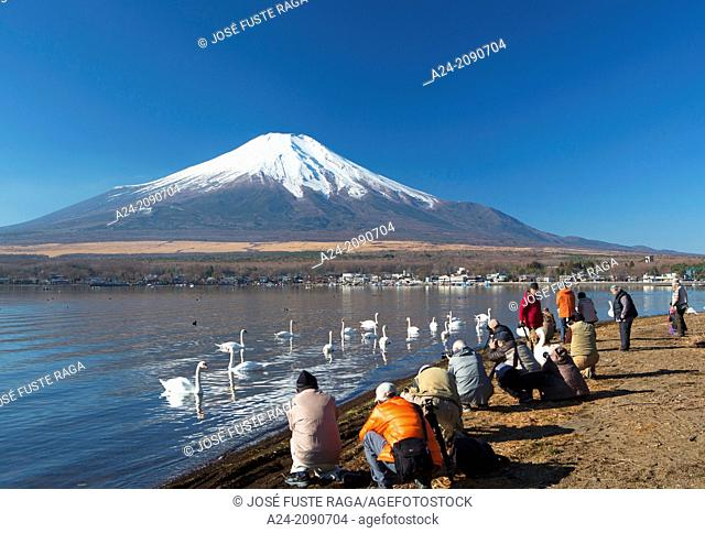 Japan , Lake Yamanaka , photographers