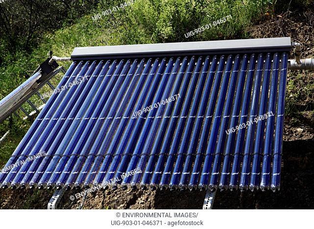 Solar panels on Hotel at Al terre di mare, Italy