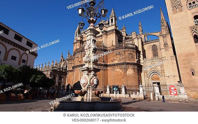 Santa Maria de la Sede Cathedral in Seville, Andalusia, Spain